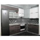 Kitchen MDF gloss, aluminum